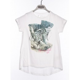 Tee-shirt manches courtes fille TIFFOSI Lip blanc