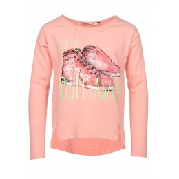 Tee-shirt maches longues enfant fille TIFFOSI Barranquila rose avant
