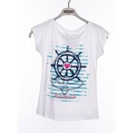 Tee-shirt manches courtes filles enfants TIFFOSI Lock blanc
