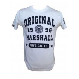 Tee-shirt US MARSHALL blanc print
