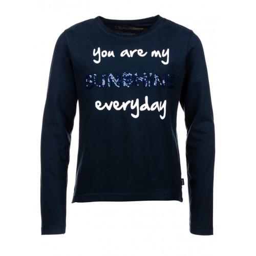 T-shirt TIFFOSI bleu ADELE manches longues