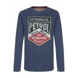 "T-shirt Petrol Industries ""dry good"" bleu"