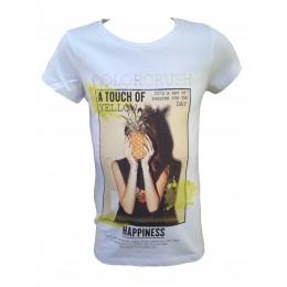 T-shirt LES FILLETTES DE PARIS ANANAS BLANC