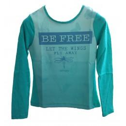 tee-shirt TIFFOSI Shelby bleu/vert